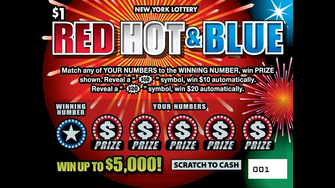 $1 - RED HOT & BLUE - WIN! Lottery Bengal Scratch Off instant tickets NEW  TICKET TUESDAY WIN!