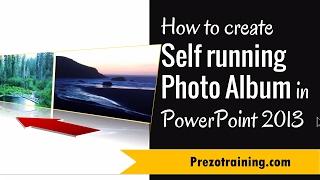 Comment Créer une Auto de course de l'Album Photo dans PowerPoint 2013
