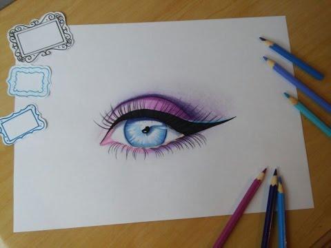 Como Desenhar E Colorir Olho Evolução Youtube