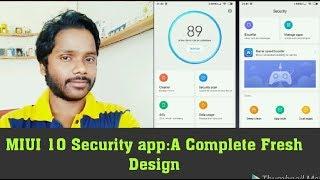 MIUI 10 Security app: A Complete Fresh Design!! Hindi