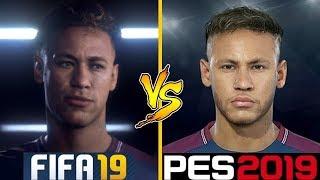 FIFA 19 VS PES 2019 | New Face Comparison