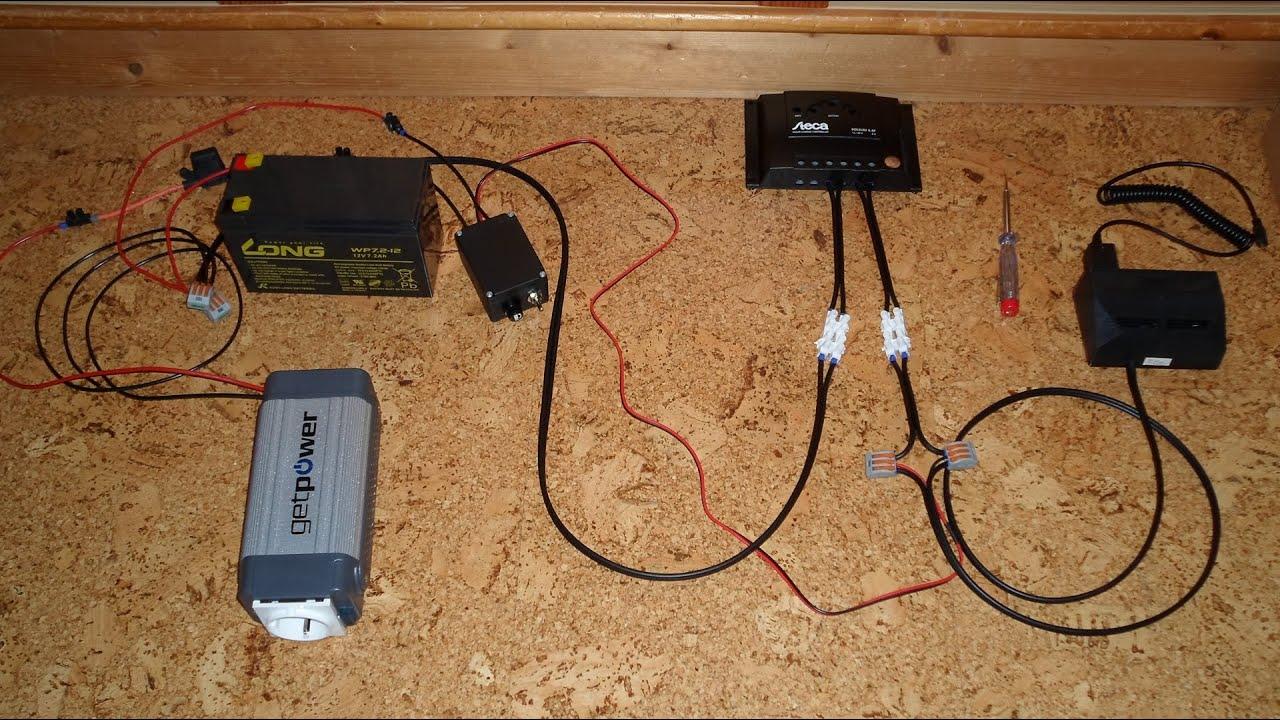 aufbau einer autarken solaranlage inselanlage youtube. Black Bedroom Furniture Sets. Home Design Ideas