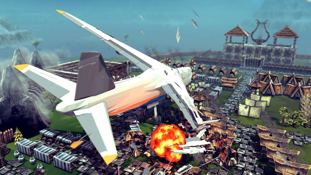 Airplane Crashes & Shootdowns #45 | Besiege