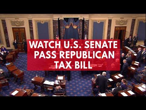 Watch US Senate pass Republican tax bill