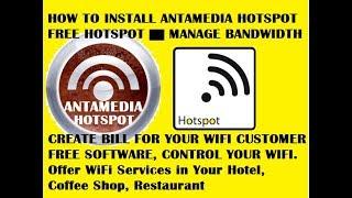 Antamedia hotspot | how to install antamedia hotspot | HotSpot Software for Free Wi-Fi