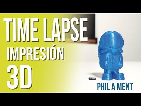⏳TIME LAPSE 3D printing 👀 Así se ve el proceso de una IMPRESIÓN 3D👩🚀.