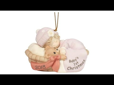 Precious Moments Baby Girl's First Christmas 2018 Orname...