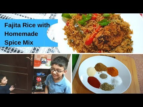 Quick Dinner Routine Of Busy Mom- Mexican Chicken Fajita Rice With Homemade Spice Mix - Urdu Recipe