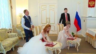 Двойняшки одновременно вышли замуж в Вологде