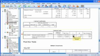 Linear Contrast Analysis - SPSS (part 4)