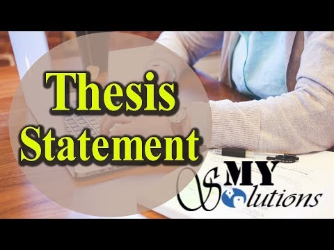 How To Write A Thesis Statement For Beginners In Urdu/Hindi