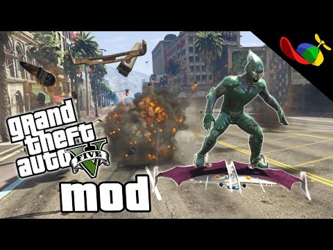 LIVE STREAM - GTA 5 MOD ITA - Green Goblin