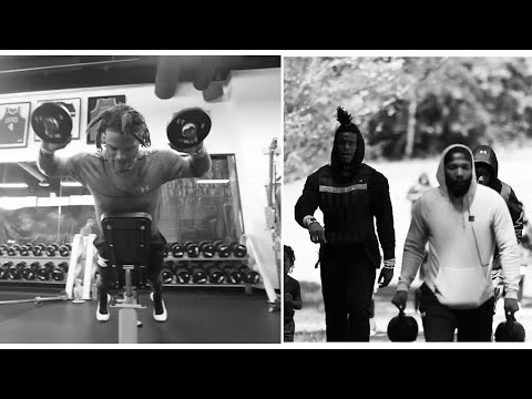 Cam Newton NOW VEGAN Back Grinds Weight Room Does Cardio W/ Odell Beckham Jr | New England Patriots