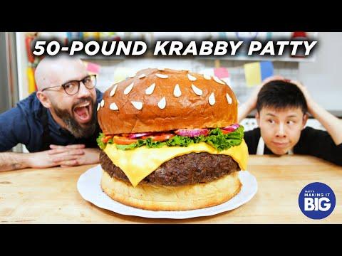 I Made A Giant Krabby Patty (ft. Babish Culinary Universe) • Tasty