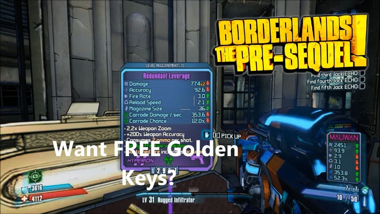 FREE SHiFT CODES FOR BORDERLANDS THE PRE-SEQUEL JANUARY-FEBRUARY