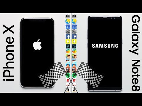 Download Youtube: iPhone X vs. Galaxy Note 8 Speed Test