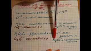 химические свойства соединений Хрома Cr (6). Окислительно-восстановительные свойства хрома (6)
