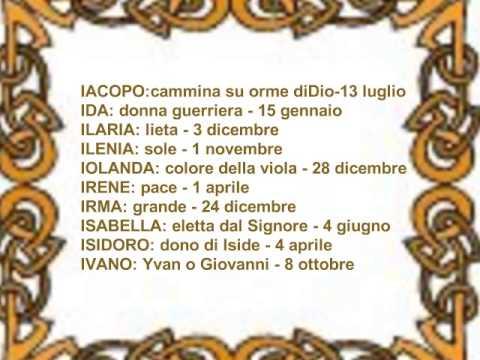 Significato dei nomi e onomastico youtube for Nomi dei politici italiani