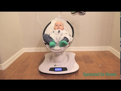 How Fast A Mamaroo Infant Swing Soothes A Baby Youtube