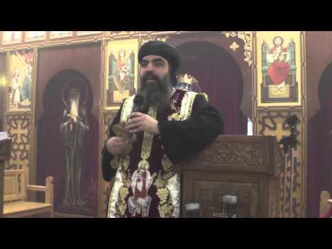 Sermon de son éminence Anba Marc, lors de la prières des vêpres de la fête de Anba Samuel,.