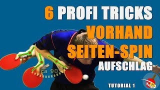 How to serve: Tutorial - Tischtennis Vorhand Seiten-Spin Aufschlag