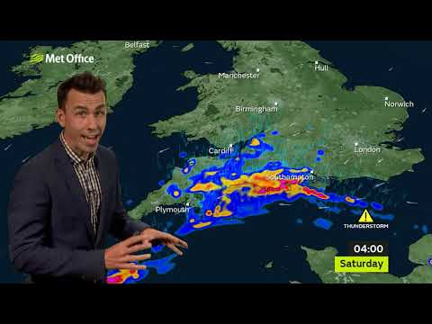 Weather Story - Thunderstorm risk for some 23/07/21