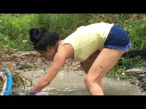 Thumbnail: Beautiful Girl Catch A lot of Fish By Hand-Amazing Fishing in Cambodia