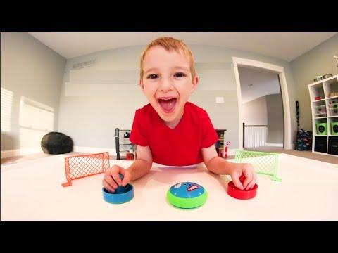 Father & Son PLAY AIR HOCKEY GAME! / So Much Fun!