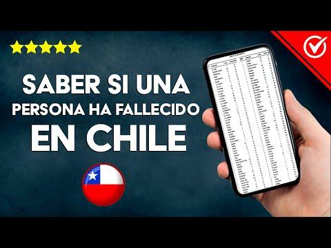 Cómo Saber y Mirar si una Persona ha Fallecido en Chile
