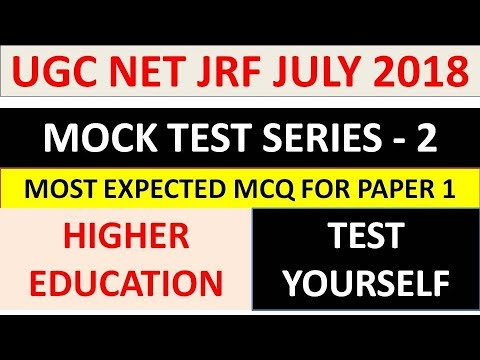 Ugc Net Paper 1- MOCK TEST - 2    Most Expected MCQ Series    Test Yourself