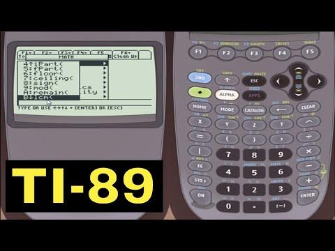 TI-89 Calculator - 03 - The Catalog and the Math Number Menu