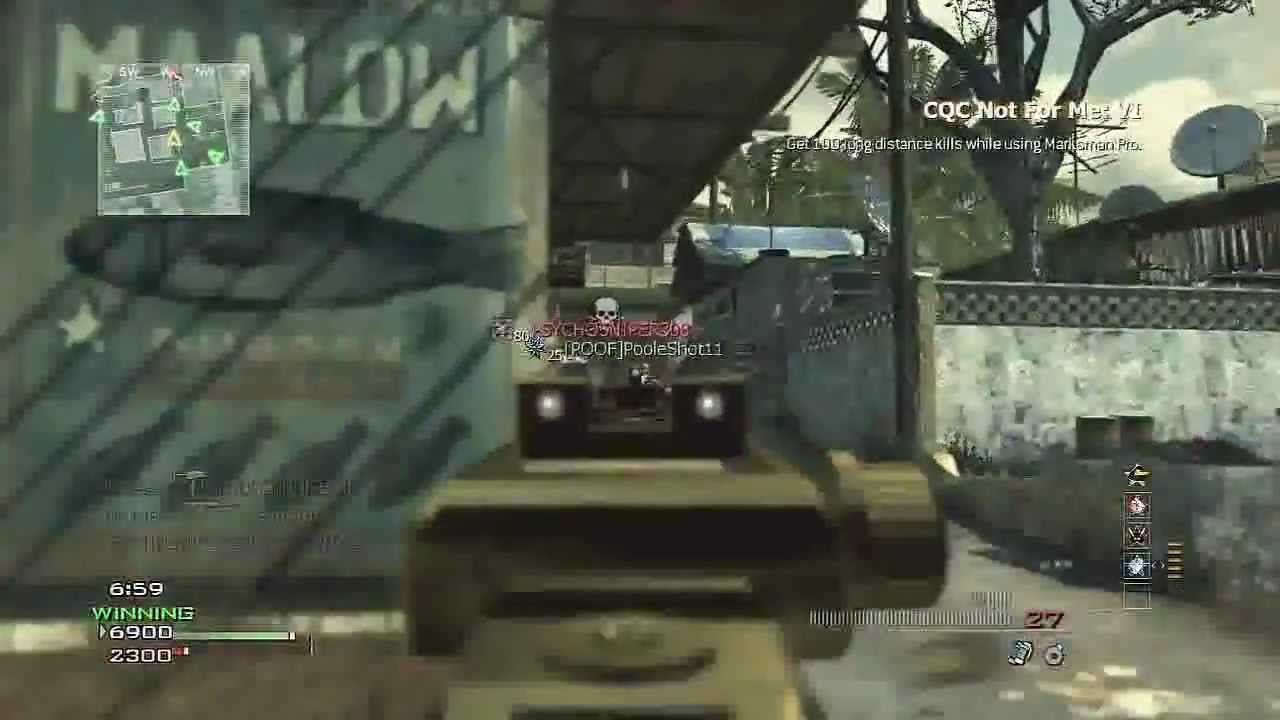 COD MW3 MOAB # 1 : MP7 w/ Suppressor , Extended Mags & Iron