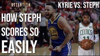 Steph vs. Kyrie: HOW Steph Scores So Easily
