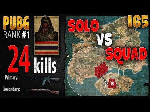 [Eng Sub] PUBG Rank 1 - Green Ezqelusia 24 kills [AS] Solo vs Squad TPP #165