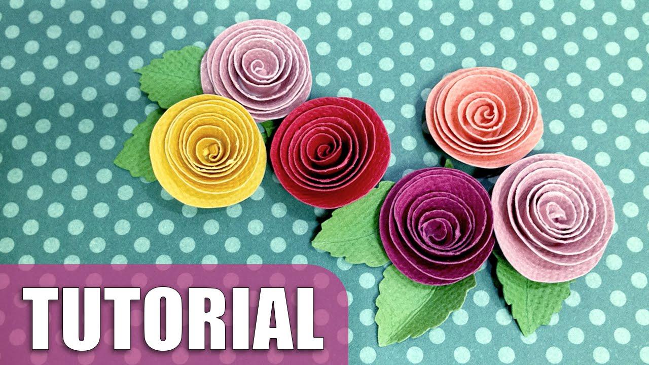 Como fazer flor de papel enroladinho YouTube