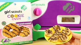 Girl Scout Cookie Oven - Making Caramel Coconut Cookies!