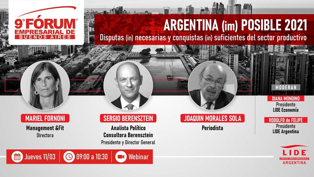 Presentes en el Fórum Empresarial de Buenos Aires