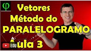 Soma de Vetores - Método do PARALELOGRAMO - VETORES - Aula 3 - Prof.  Marcelo Boaro
