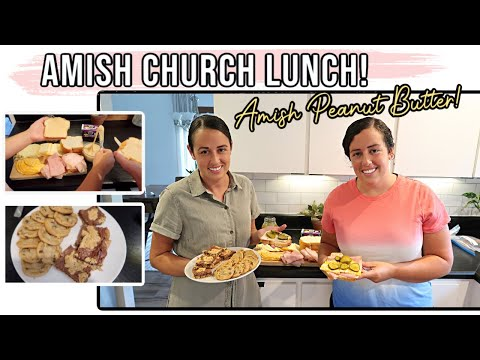 Real Amish Church Lunch! | Peanut Butter Spread | Amish/Mennonite Style Food