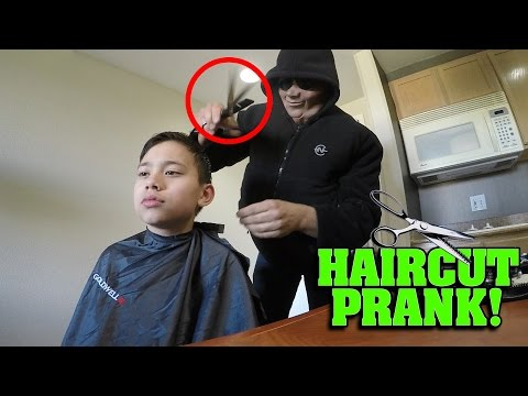 SCARY HAIRCUT PRANK GONE WRONG