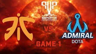 Fnatic vs Admiral Dota    Game 1   Semi Finals  PVP Esports Championship  
