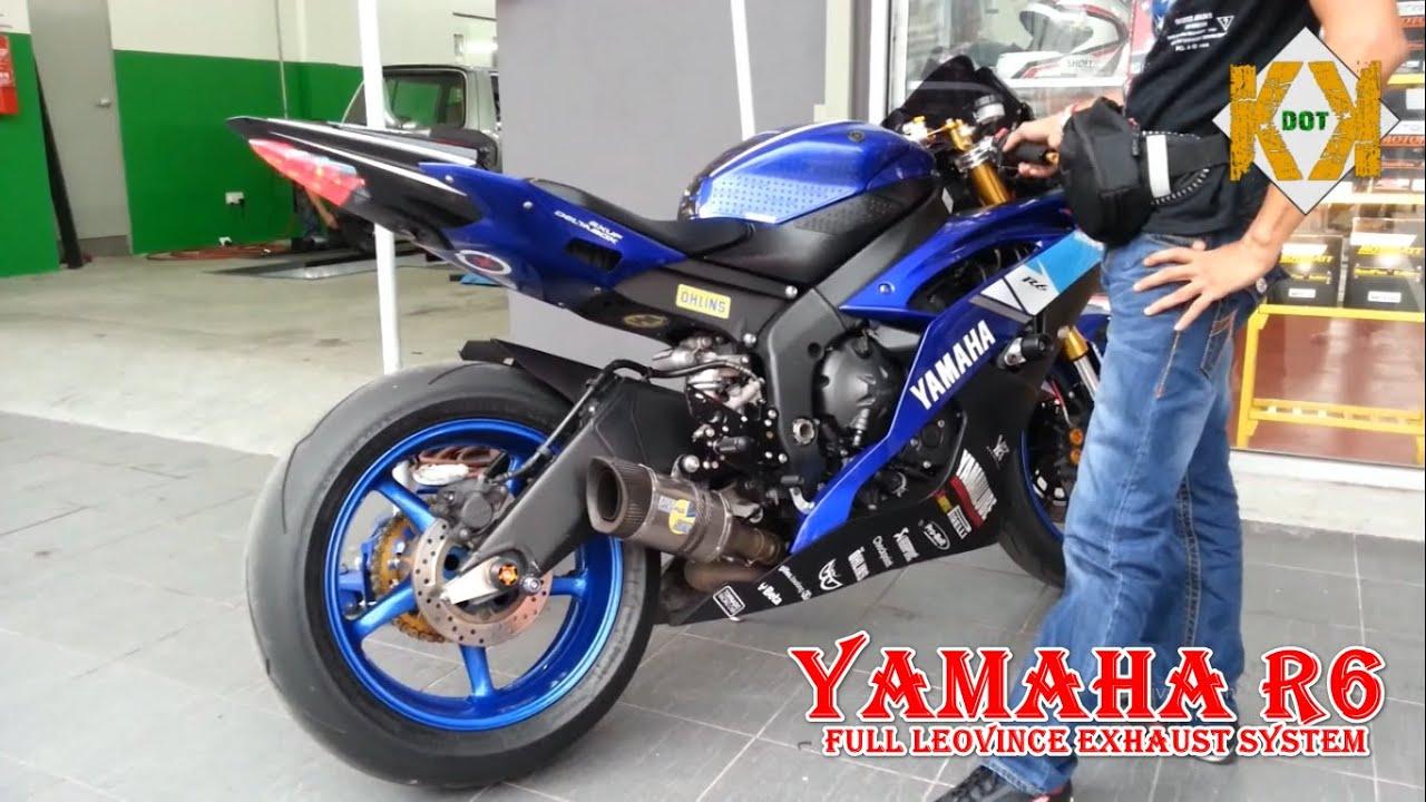 yamaha r6 full leovince exhaust system