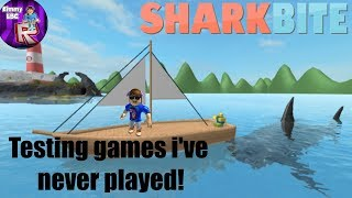 Testing Roblox games i've never played #5 | SharkBite