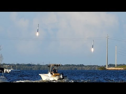Falcon Heavy Launch and Landing - Nikon P1000