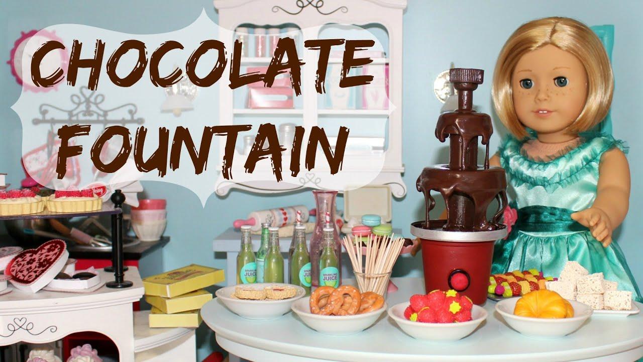 Diy american girl doll chocolate fountain youtube for American girl crafts diy