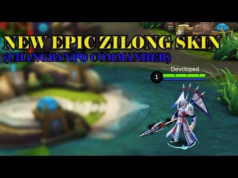NEW EPIC ZILONG SKIN (CHANGBANPO COMMANDER) GAMEPLAY