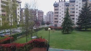 Caen los primeros copos de nieve del año en Oviedo