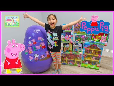 Biggest Peppa Pig Toys Surprise Egg Opening Ever with Castle Toy Surprises for Kids!