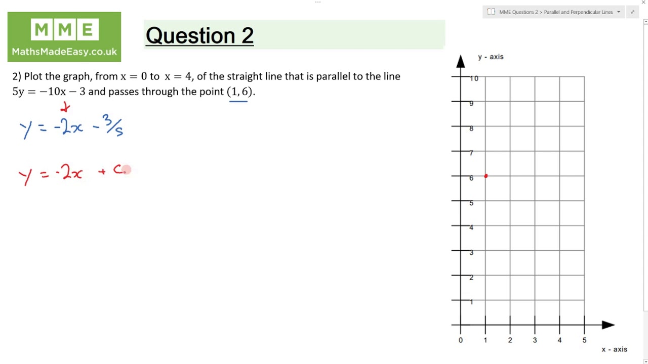 Parallel and Perpendicular Lines Worksheets | Questions and