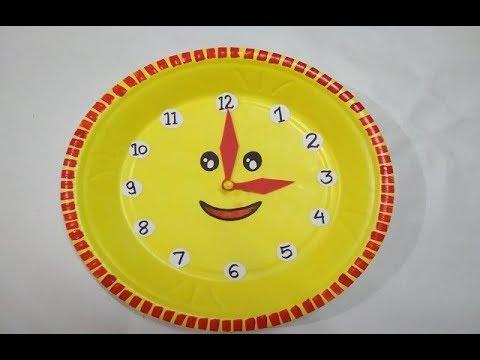 School Project Clock How To Make Clock Diy Clock Model For Kids